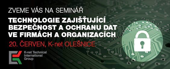 Banner of the K-net seminar about security and protection for companies