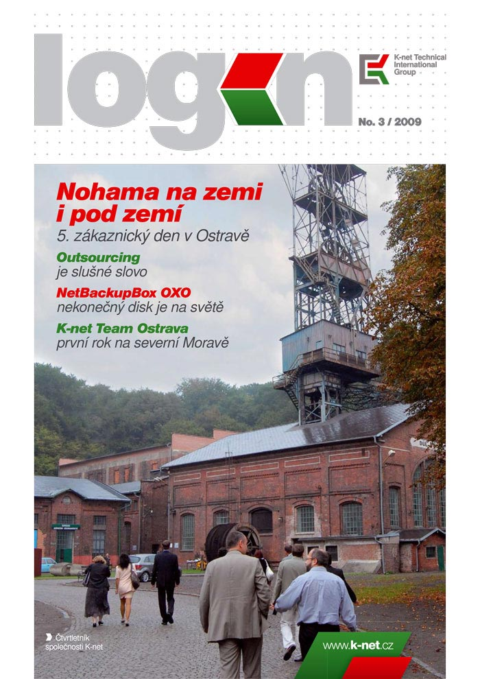 Cover of the K-net magazine about IT, Login