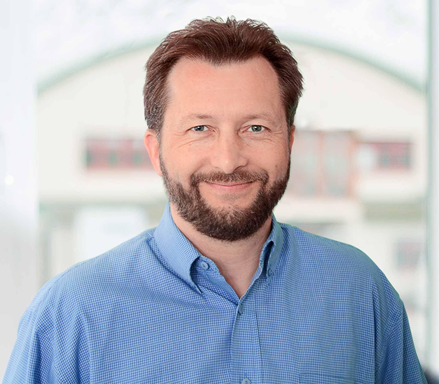 Portrait of the K-net manager of sales and marketing, Petr Župka