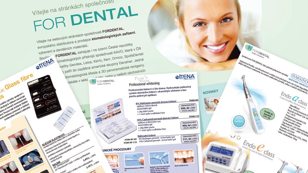 view of hte brochure of the K-net customer, ForDental