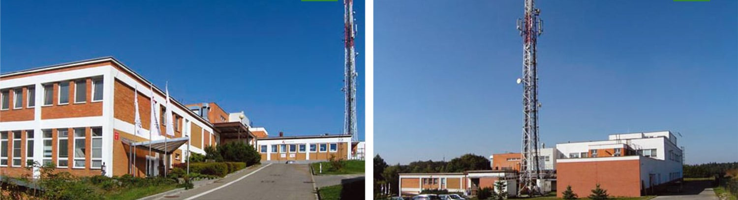 2 differents views of the Noventis building