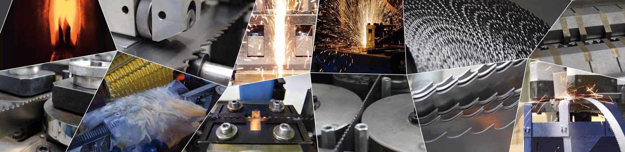 Multiple views of metal tools, saw in workshop in Pilana