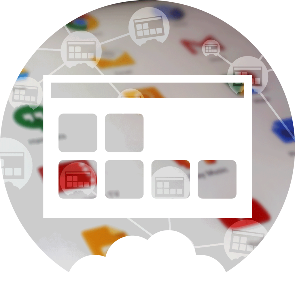 Icon XL of K-net service netApps with icons and ascreen with icons of apps
