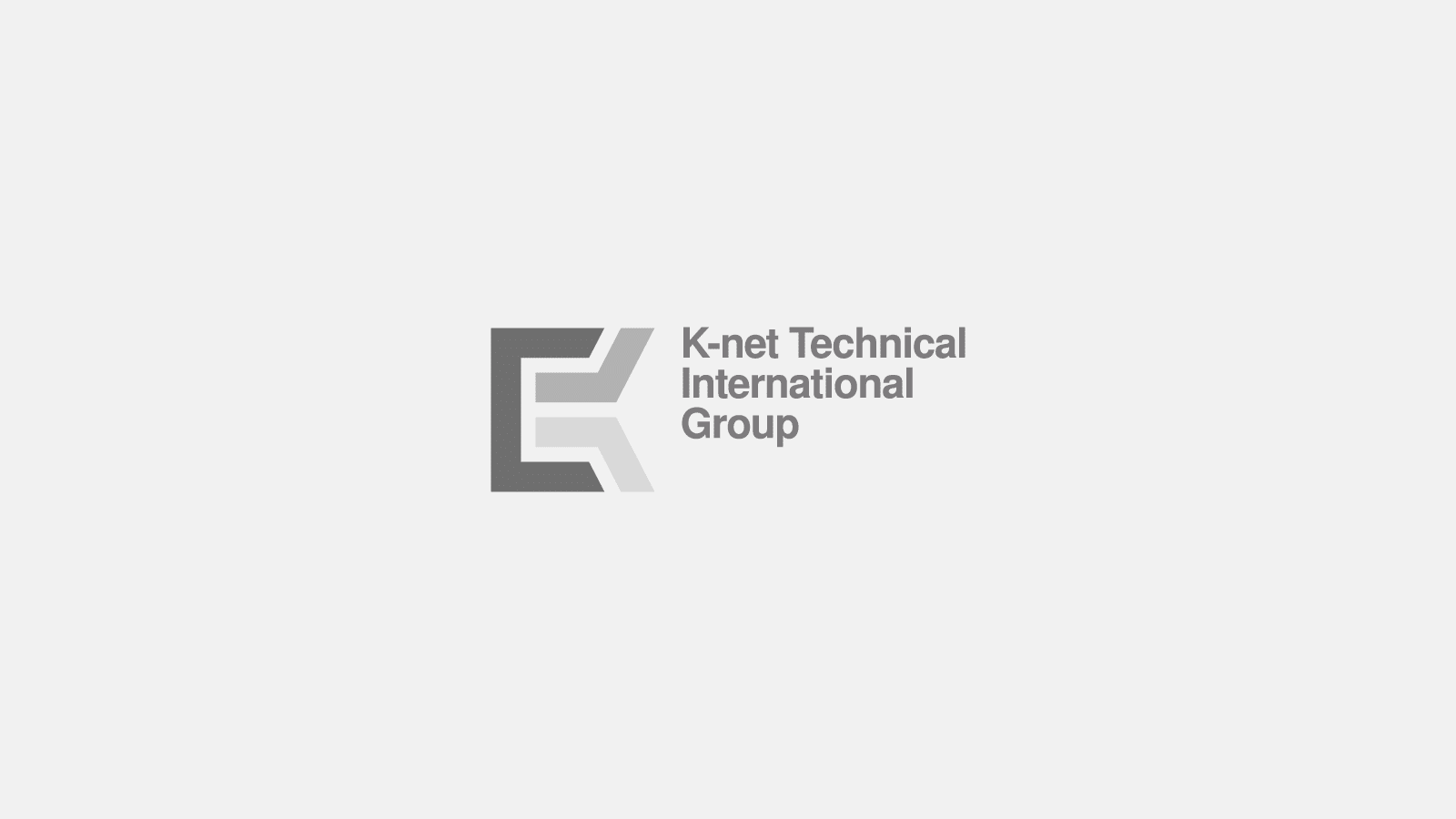 K-net logo on grey background