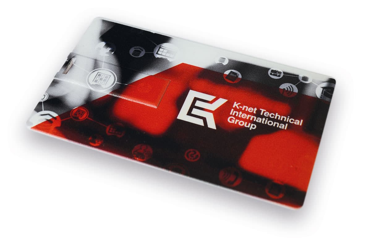 View of the flat USB card from K-net