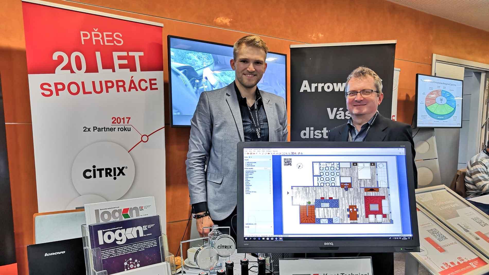 Jan Knettig a Tomáš Kiedron u stanky během Arrow Virtualizačního fóra