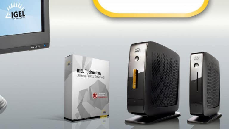 Overview of hardware from IGEL including the thin client