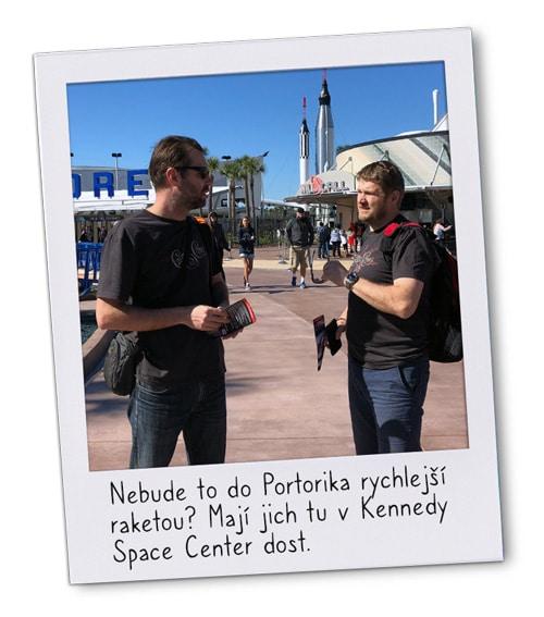 Petr aTomáš zK-netu před raketami vOrlandu