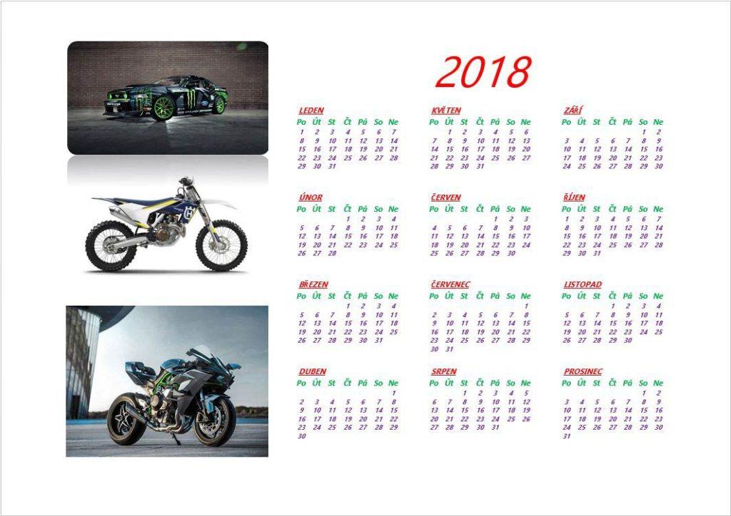 kalendáře navržené vrámci IT krouzku