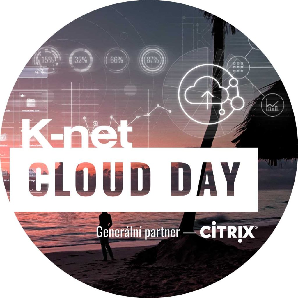 View of a part of the invitation for the K-net Cloud Day with an icon of cloud