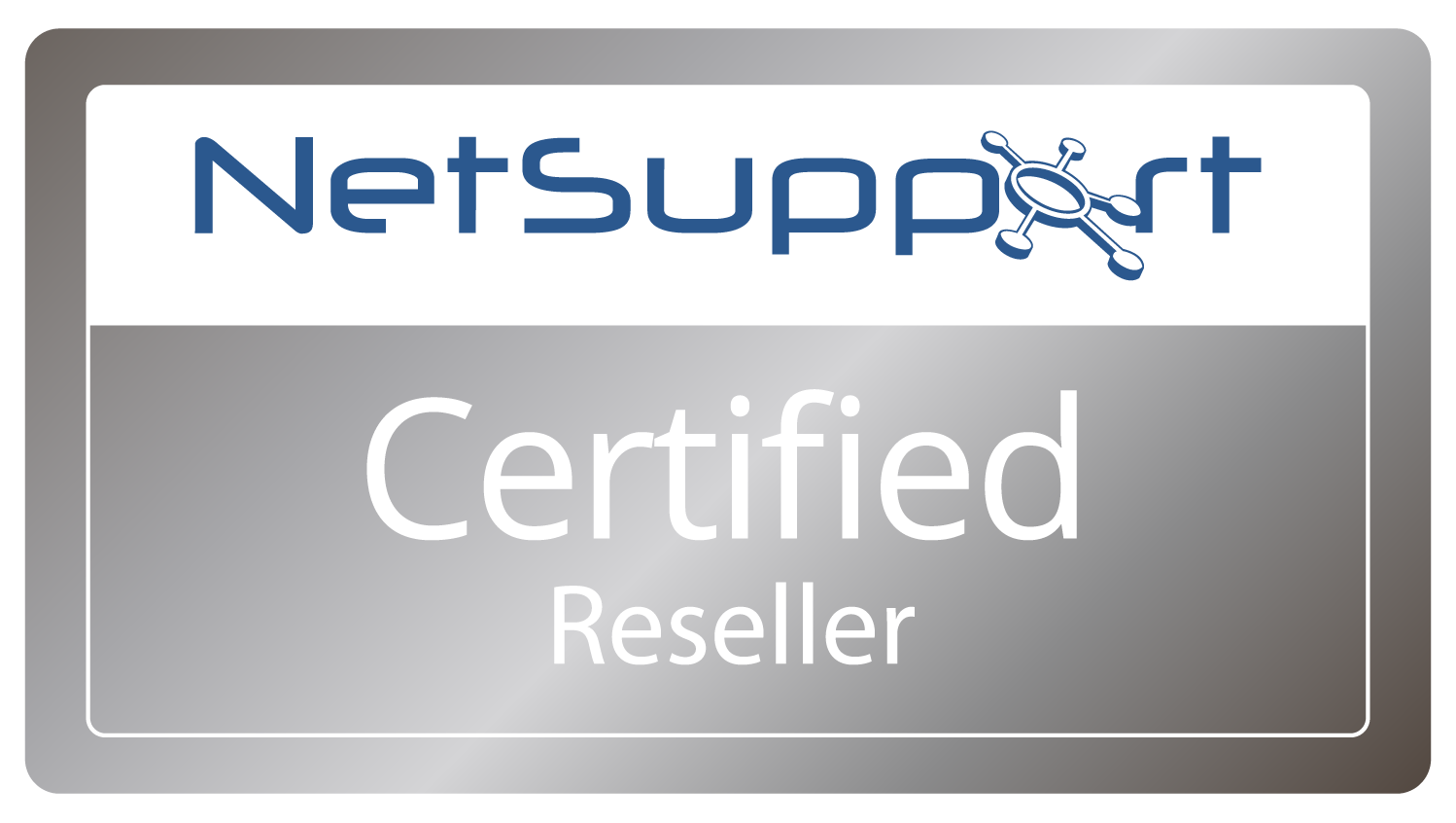 Logo K-net NetSupport Certified Reseller Partner Badge for K-net