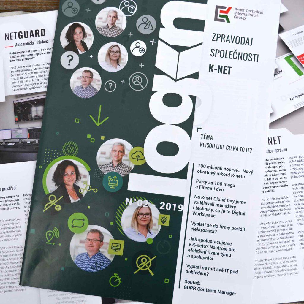 Pohled na obálku časopisu Login z K-netu