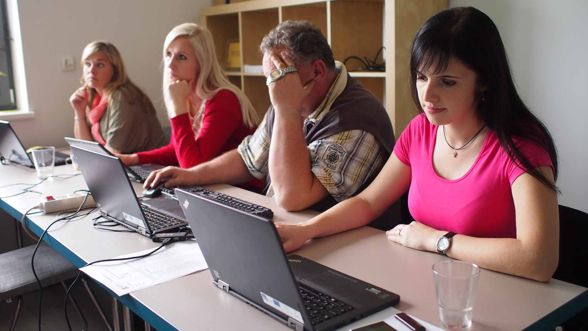 Členové týmu K-net během školení v Olešnici