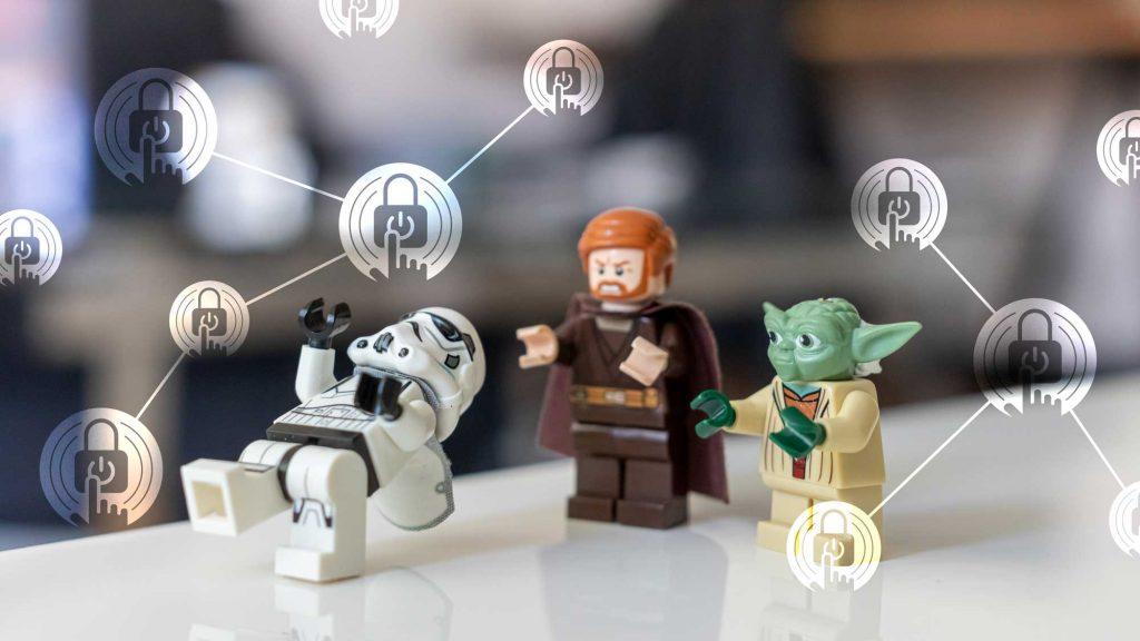 banner zobrazující jedi a Yoda bojující s Stormtrooperem, v popředí ikony netDispatcher