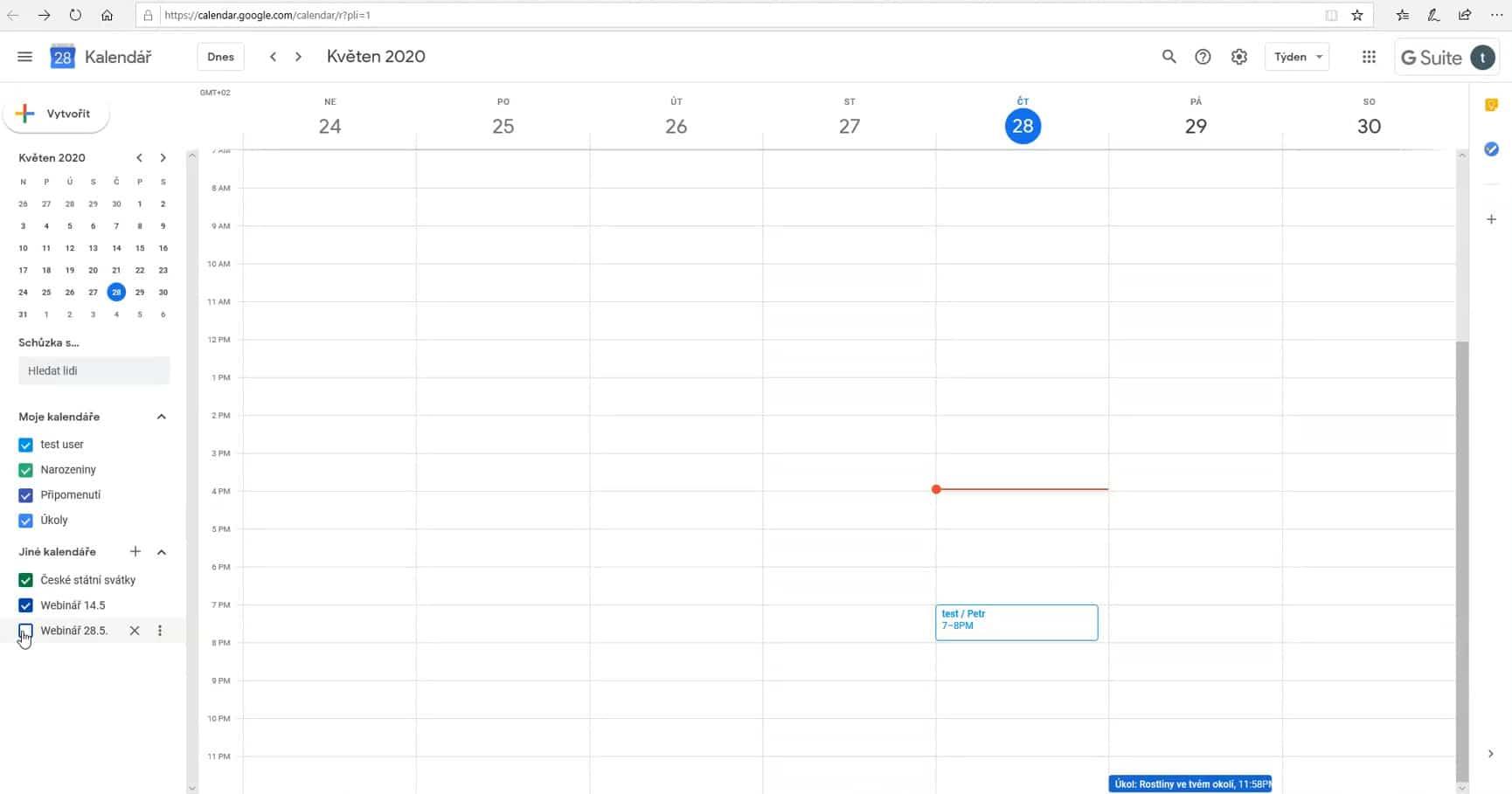 Vypnutí kurzů vkalendáři Google Classroom