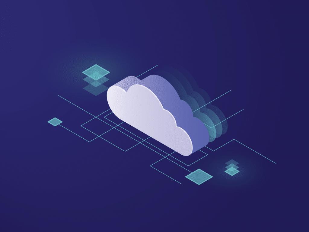 Ilustrace cloudu apropojení na něj