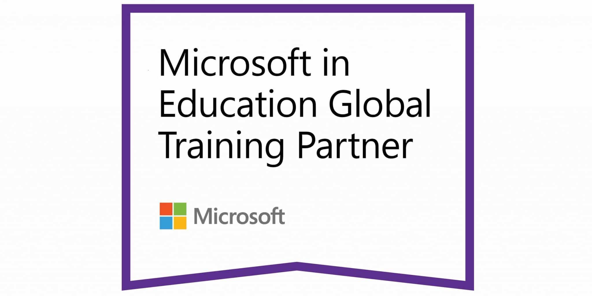 Logo registrovaného partnerství K-net s Microsoftem v oblasti vzdělávání.