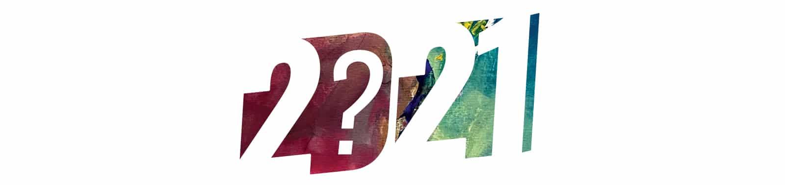 Ilustrace letopočtu 2021 sotazníkem, co nám rok přinese?