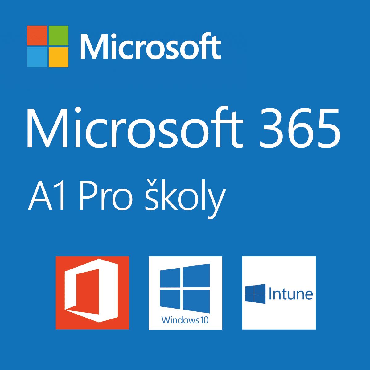 Logo Microsoft 365 pro školy plán A1