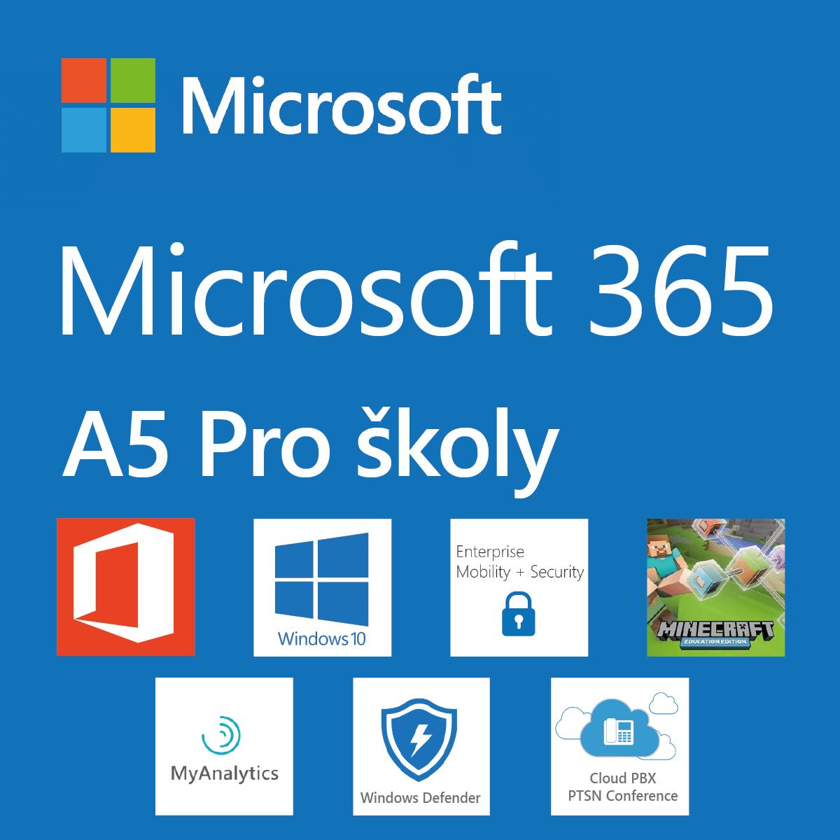 Logo Microsoft 365 pro školy plán A5