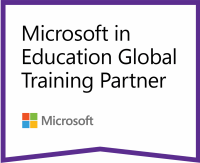 Logo registrovaného partnerství K-net sMicrosoftem voblasti vzdělávání.